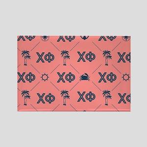 Chi Phi Pattern Rectangle Magnet