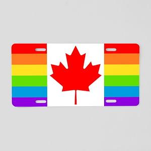 Canadian Gay Pride Flag Aluminum License Plate