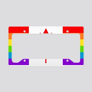 Canadian Gay Pride Flag License Plate Holder