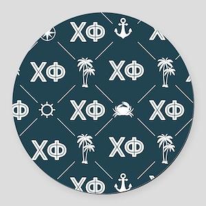 Chi Phi Pattern Round Car Magnet