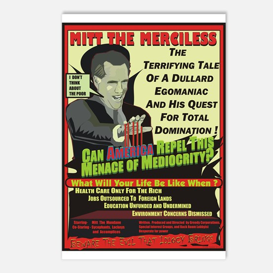 Mitt The Merciless / Postcards (Package of 8)