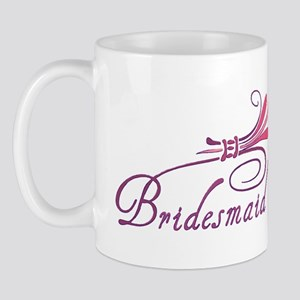 Pink/Purple Deco Bridesmaid Mug