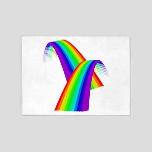 LGBTQ Pride Rainbow Bridge 5'x7'Area Rug