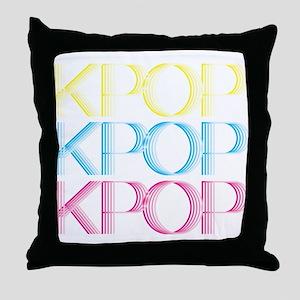 KPOP Neon Throw Pillow