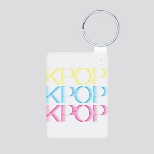 KPOP Neon Aluminum Photo Keychain