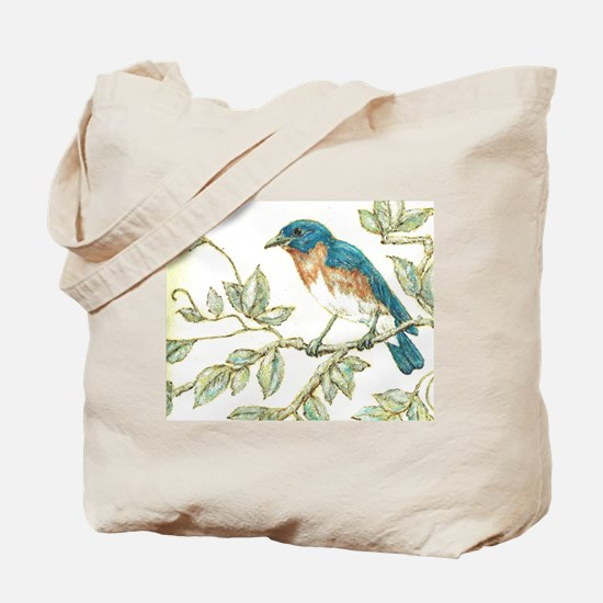 """EASTERN BLUEBIRD"" Tote Bag"