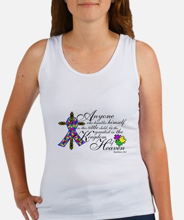 Autism ribbon with Cross Women's Tank Top