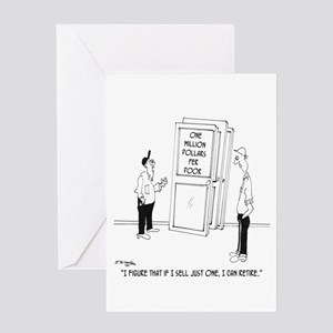 Million Dollar Door Greeting Card