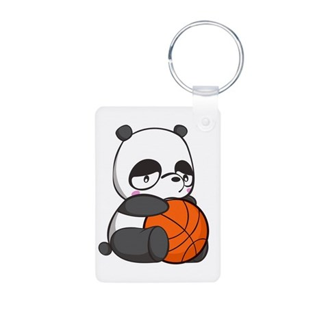 Panda play Aluminum Photo Keychain