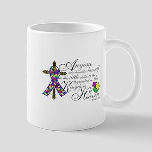 Autism ribbon with Cross Mug