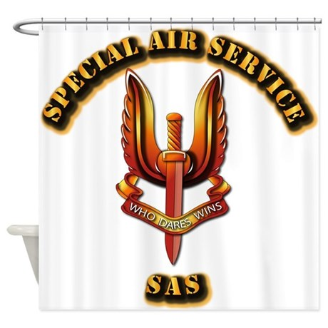 UK - Special Air Service Shower Curtain