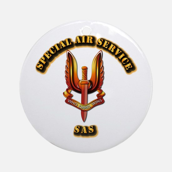 UK - Special Air Service Ornament (Round)