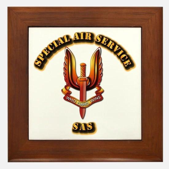 UK - Special Air Service Framed Tile