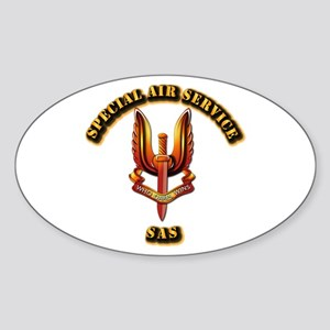 UK - Special Air Service Sticker (Oval)