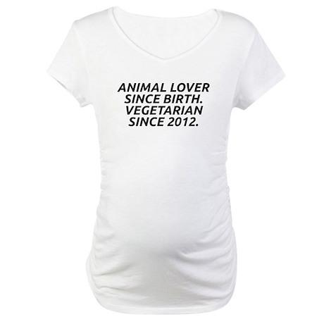 Vegetarian since 2012 - Maternity T-Shirt