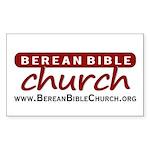 Berean Bible Church Sticker (Rectangle)