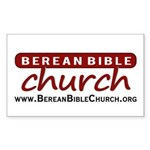 Berean Bible Church Sticker (Rectangle)