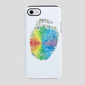 LGBT pride rainbow fingerprint iPhone 7 Tough Case