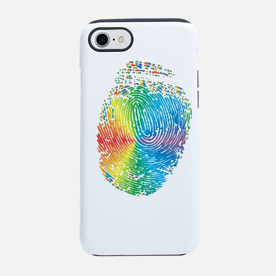 LGBT pride rainbow fingerprint iPhone 7 Tough Case