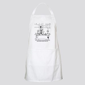 Inspector Arrives At Lunch Apron