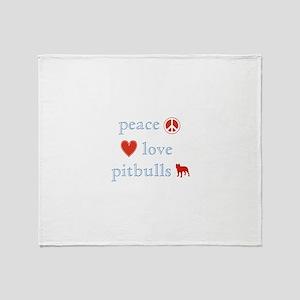 Peace, Love and Pitbulls Throw Blanket