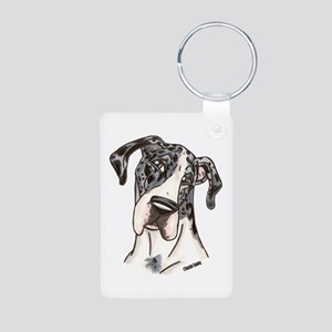 MM Over Here Aluminum Photo Keychain