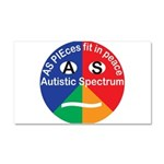 Autistic Spectrum Car Magnet 20 X 12
