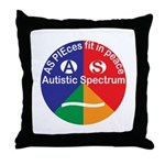 Autistic Spectrum Throw Pillow