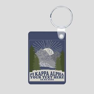 Pi Kappa Alpha Mountain Pe Aluminum Photo Keychain