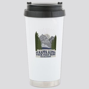 Pi Kappa Alpha Mo 16 oz Stainless Steel Travel Mug