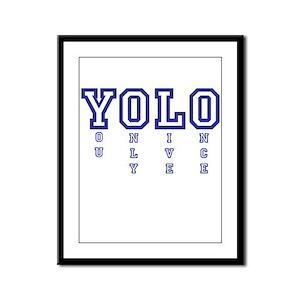 YOLO Framed Panel Print