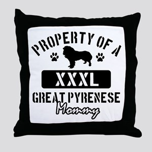 Great Pyrenese Mommy Throw Pillow