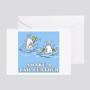 Shake A Tail Feather Greeting Cards (Pk of 10)