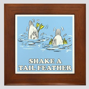 Shake A Tail Feather Framed Tile