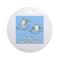 Shake A Tail Feather Ornament (Round)