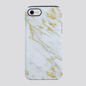 White and gold marble texture iPhone 7 Tough Case
