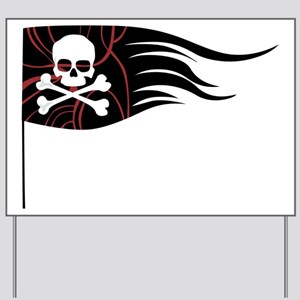 Pirate Flag Yard Sign