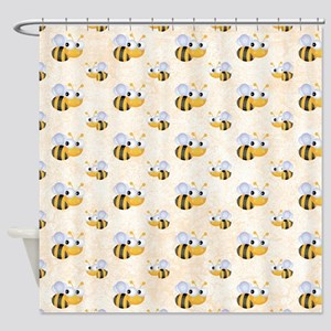 Cute Bee Shower Curtain
