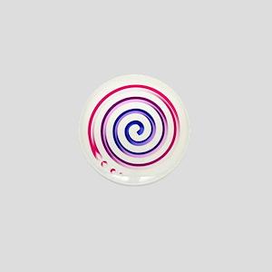 bi spiral Mini Button