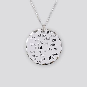 PharmD Student Necklace Circle Charm