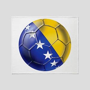 Bosnia Football Throw Blanket