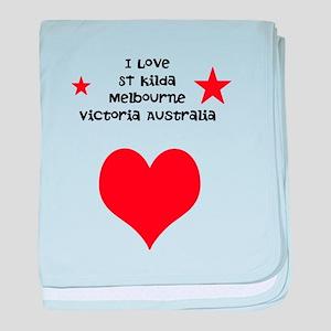 Melbourne Suburbs eg I love S baby blanket
