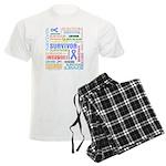 Survivor - Stomach Cancer Men's Light Pajamas