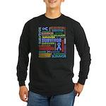 Survivor - Stomach Cancer Long Sleeve Dark T-Shirt