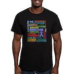 Survivor - Stomach Cancer Men's Fitted T-Shirt (da