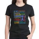 Survivor - Stomach Cancer Women's Dark T-Shirt