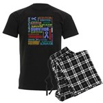 Survivor - Stomach Cancer Men's Dark Pajamas