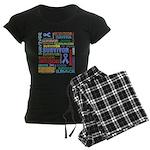 Survivor - Stomach Cancer Women's Dark Pajamas