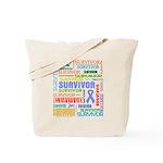 Survivor - Stomach Cancer Tote Bag
