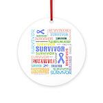 Survivor - Stomach Cancer Ornament (Round)